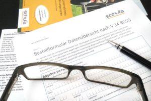 Bestellformular für die Datenübersicht der SCHUFA AG