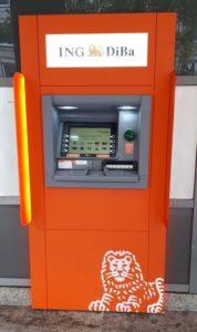 ING-DiBa Geldautomat in Hannover